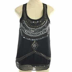 Romeo and Juliet Couture Beaded Embellished Tank